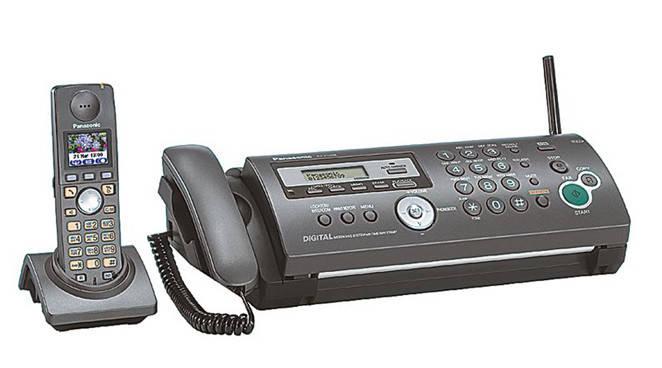 Факс Panasonic KX-FС253UA факс термоперенос, DECT, р/телефон, фото 2