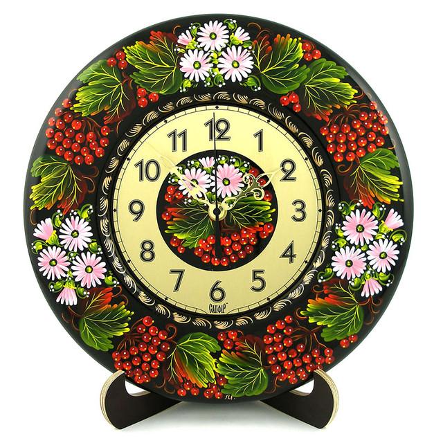 декоративные деревянные часы  Калинове диво