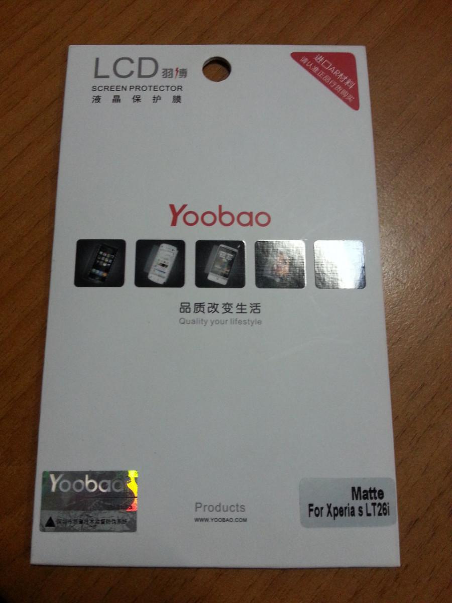 Защитная пленка для Sony Xperia S LT26i Yoobao глянцевая