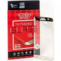 Стекло защитное ADPO для Samsung G935 Galaxy S7 Edge (серебристое) 3D (1283126472220)
