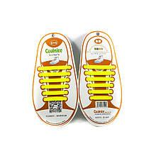 Аксессуары для обуви Coolnice  Силиконовые шнурки 6х6 жёлтые.