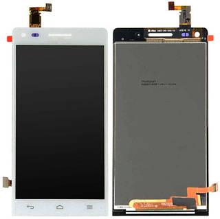 Дисплей Huawei Ascend G6 белый (LCD экран, тачскрин, стекло в сборе)