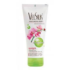 Крем для тела увлажняющий эффект с экстрактом орхидеи VelSilk 200 мл