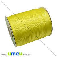 Атласная косая бейка, 15 мм, Желтая, 1 м (LEN-010322)