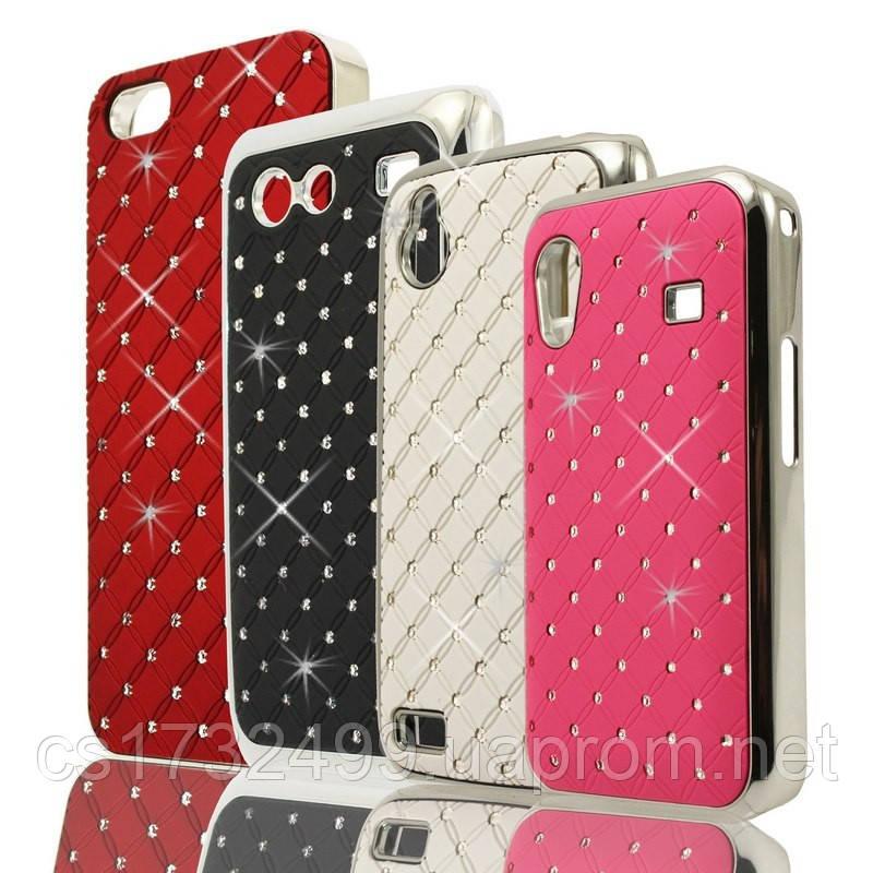 Накладка со стразами Diamond HTC Desire V/Desire X (T328w/T328e) White