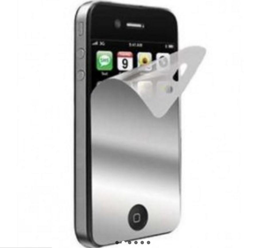 Зеркальная защитная пленка для iPhone 4/4s