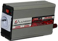 Инвертор напряжения IPS-600S, 300Вт, 12/220 с правильной синусоидой, 1 евророзетка, клемы + провода