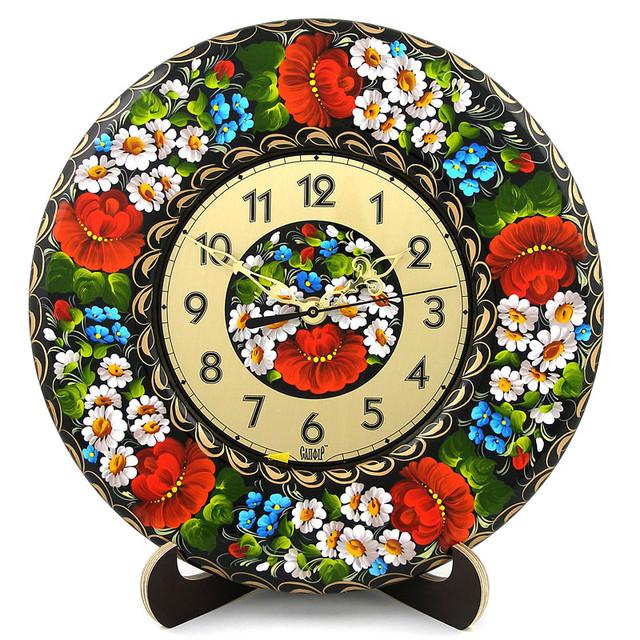 декоративные деревянные часы  Яскраве літо