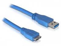 Кабель Usb 3.0 AM to Micro-B пакет, длина 0,8 метра синий