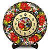 Часы деревянные. Бузковий рай. Украинский сувенир. Петриковская роспись.