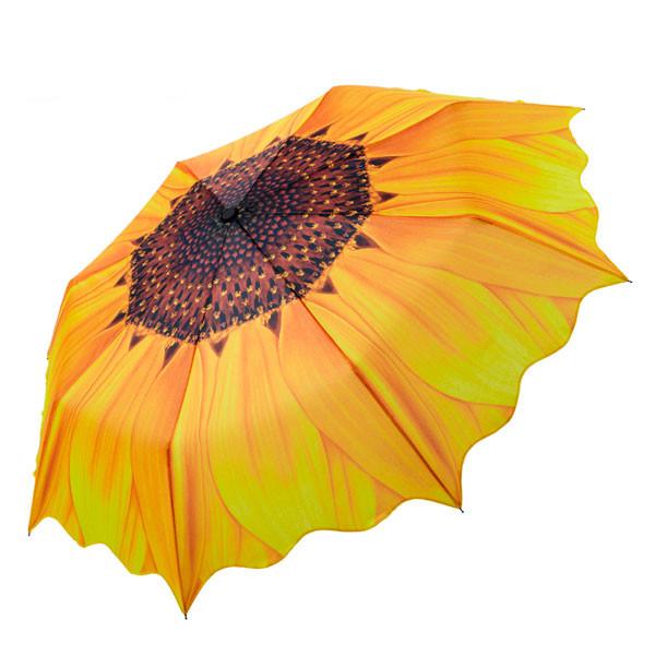 🔝 Оригинальный зонт Подсолнух от дождя и солнца, яркий женский зонтик, с доставкой по Киеву и Украине | 🎁%🚚