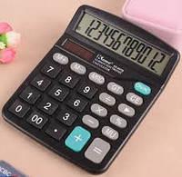 Калькулятор офисный мини 837B. 26 кнопок. черный. размеры 153*121*37 мм. Box