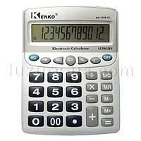 Калькулятор офисный стандарт 1048-12. 28 кнопок. серебристый. размеры 21616347мм. Box