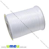 Атласная косая бейка, 15 мм, Белая, 1 м (LEN-010305)
