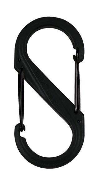 Карабин пластиковый Plastic S - Biner Size # 8 черный / черный