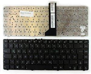 Клавиатура для ноутбуков Asus U44, K45 черная UA/RU/US