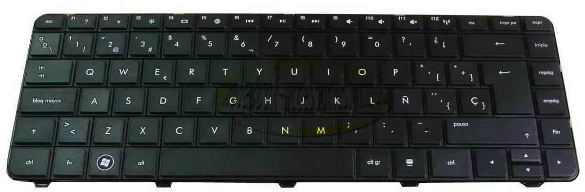 Клавиатура для ноутбуков HP Pavilion CQ43, CQ57, CQ58, G4,G6-1000 черная RU/US