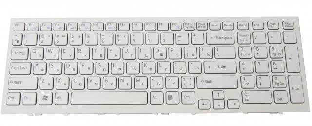 Клавиатура для ноутбуков Sony Vaio VPC-CB17 series белая UA/RU/US