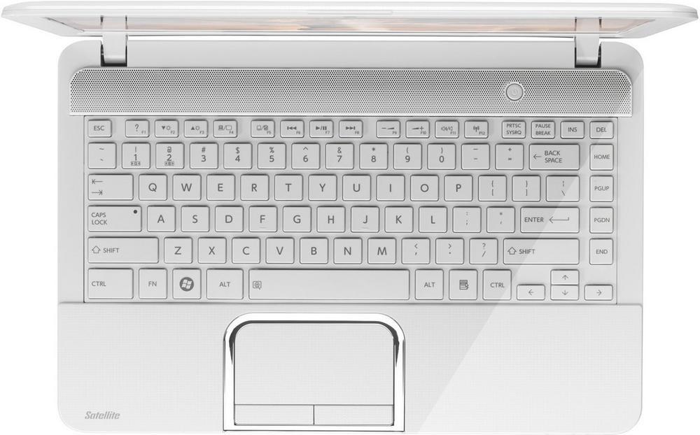 Клавиатура для ноутбуков Toshiba Satellite L830 series белая с белой рамкой UA/RU/US