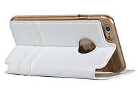 Книжка iPhone 6 leather case- Merry Series белый IP6MR02
