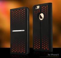 Книжка-чехол iPhone 6 Polka Dot leather case Groove Series оранжевый IP6LD01