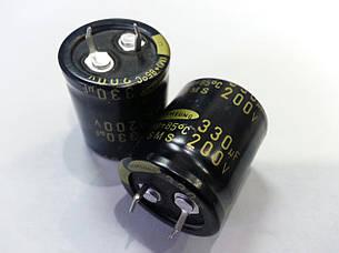 330mkf - 200v  M (SMS) 25*30  SAMSUNG, 85°C