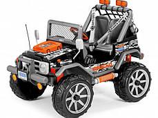 Детский Электромобиль Peg Perego Gaucho Rock'in 12V, мощность 480W, черно-оранжевый, фото 2