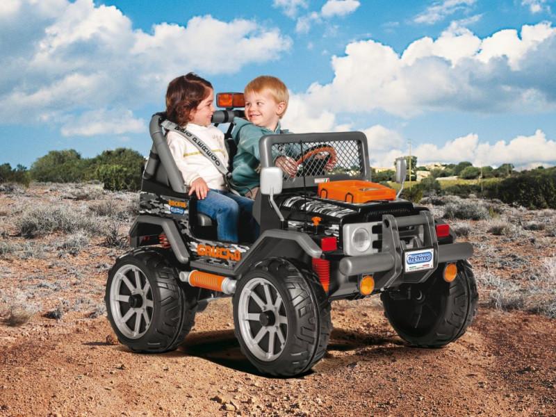 Детский Электромобиль Peg Perego Gaucho Rock'in 12V, мощность 480W, черно-оранжевый