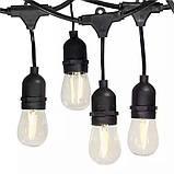 Ретро гирлянда уличная  Эдисона 5 м 10 патронов е 14 без лампочек, фото 3