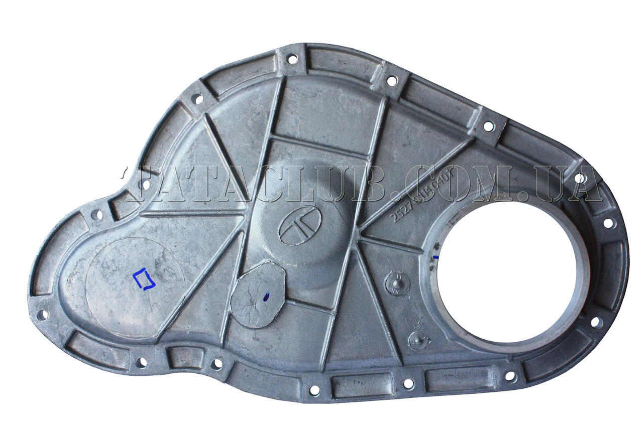 Крышка картера шестерен ГРМ передняя (EII,EIII,407,1618)TATA MOTORS / COVER, TIMING GEAR (FRONT), W/O OIL HOLE