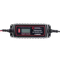 Зарядное устройство 6/12В, 0.8/3.8А, 230В, зимний режим зарядки, дисплей, максимальная емкость заряжаемого аккумулятора 1.2-120 а/ч INTERTOOL AT-3023, фото 1