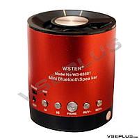 Портативная колонка WS-633BT, красный