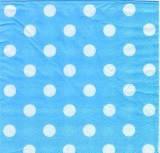 Салфетки бумажные Горошек голубые 20 шт./упак. двухслойные с перфорацией