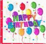 Салфетки бумажные Happy Birthday шары 20 шт./упак. двухслойные