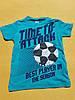 """Футболка подростковая для мальчика 10-14 лет,""""Мяч-перевертыш"""",голубого цвета"""