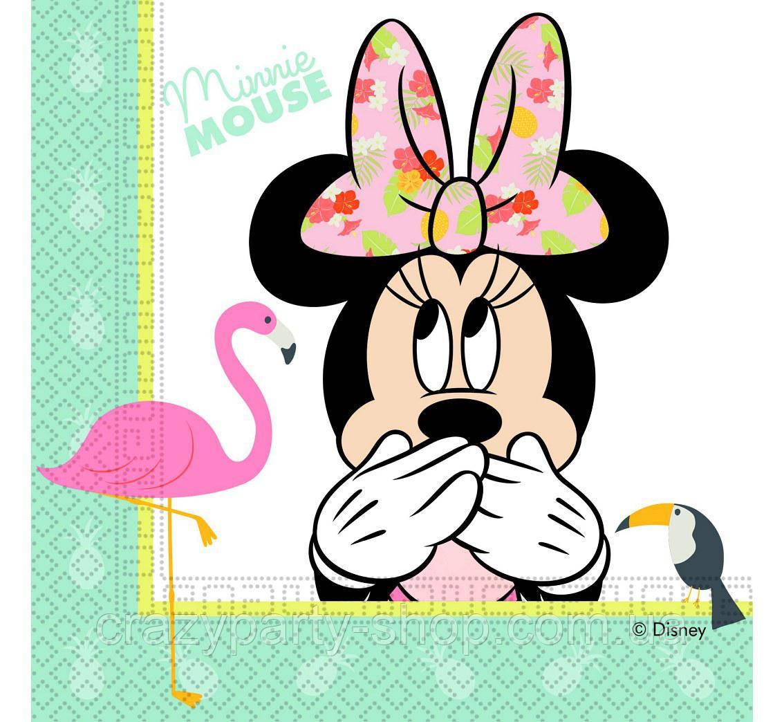 Салфетки Минни Маус с фламинго  лицензионные