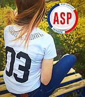 Печать на футболках под заказ именная футболка с фамилией именем номером женская мужская