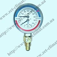Манометр с термометром ДМТ 05080 (термоманометр) (диапазон измерения от 0 до 6,0 МПа, +150⁰С) класс точности 2,5