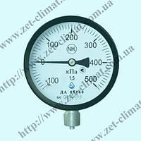 Манометр ДМ 05100 для аммиака NH3 (диапазон измерения от 0 до 6,0 МПа) класс точности 1,5