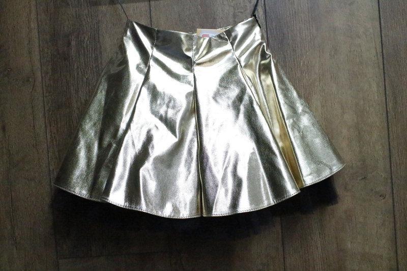 Юбка Блестящая Золото Размер 122 - 146 см
