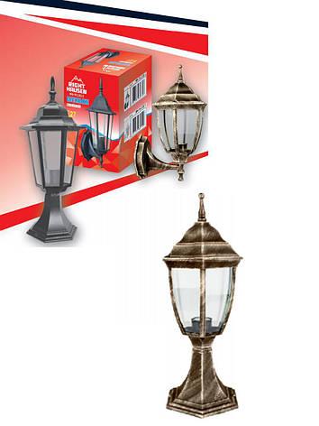 Светильник садово-парковый столбик античное золото Right Hausen, фото 2