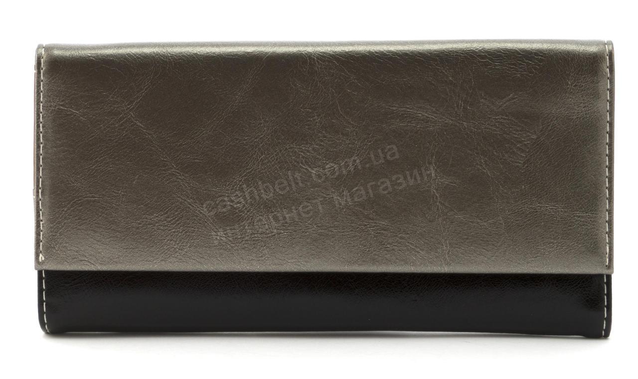 Прочный многофункциональный женский прочный кошелекэко кожиSARALYN art. J-2359 серебристый