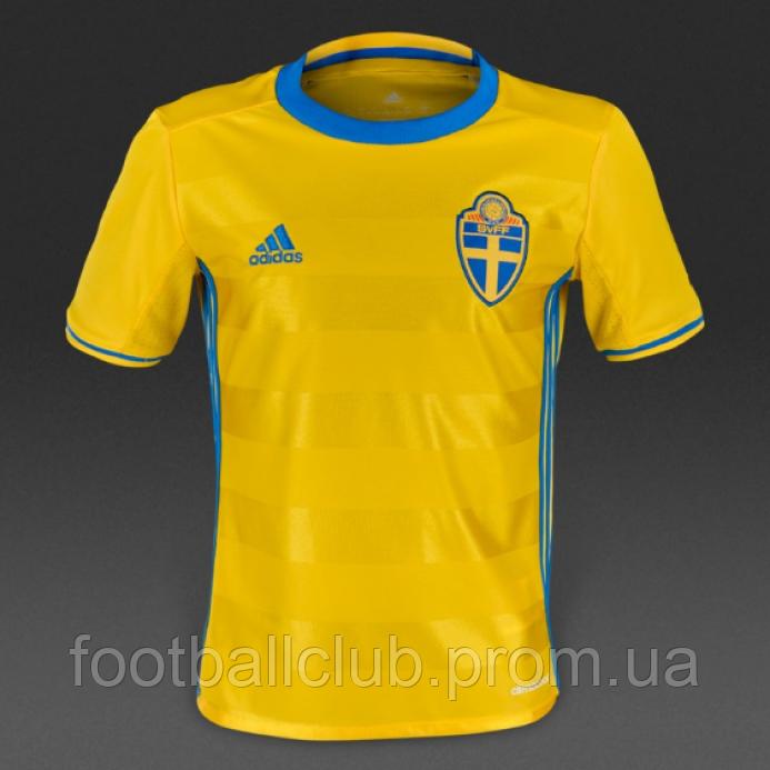 Футболка adidas Sweden 15/16 Kids Home AA0447