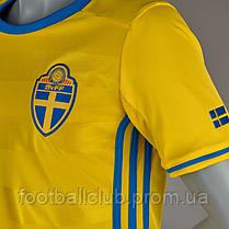Футболка adidas Sweden 15/16 Kids Home AA0447, фото 2