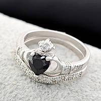Серебряное кольцо 2 в 1 – тренд 2018 года