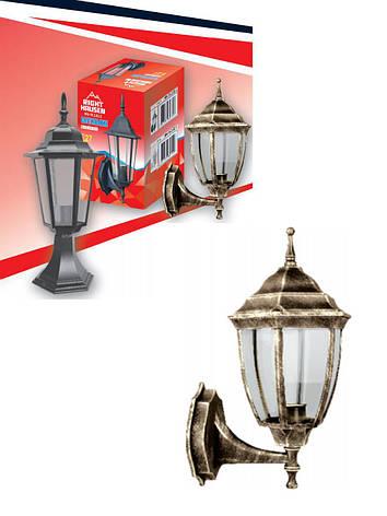Настенный садово-парковый светильник бра античное золото прозрачное стекло Right Hausen, фото 2