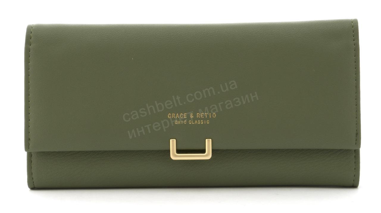 Прочный многофункциональный женский прочный кошелекэко кожиTAILIAN art. T5619-001зеленый