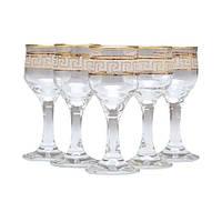 Набор стопок для ликера декорированных под золото VERSACE 55 мл 6 шт ArtCraft 31-146-234