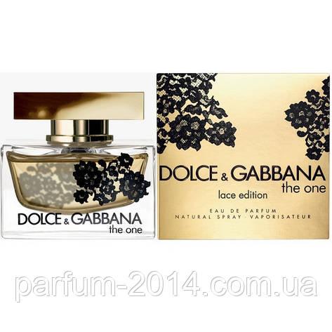 Женская туалетная вода Dolce & Gabbana The One Lace Edition  (реплика), фото 2
