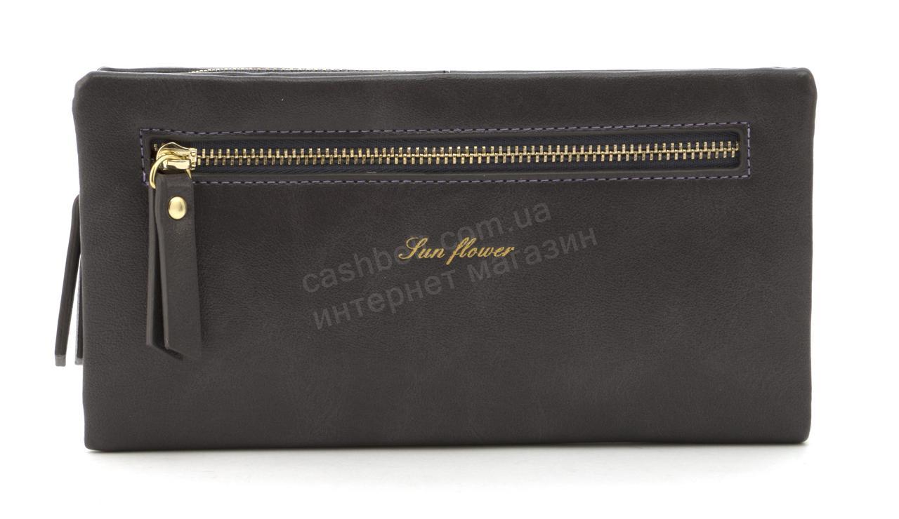 Стильный прочный удобный женский кошелек барсетка высокого качества Saralyn art. J-1065 темно сиреневый